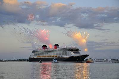 Disney Fantasy And Fireworks Poster