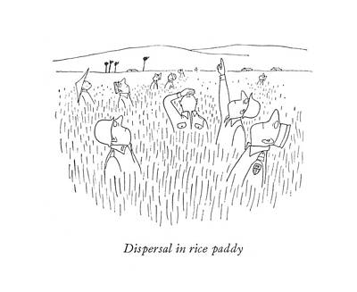 Dispersal In Rice Paddy Poster by Saul Steinberg