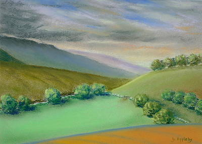 Poster featuring the painting Distant Hills by Jo Appleby