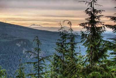 Distant Mount Baker Poster