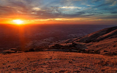 Poster featuring the photograph Mount Diablo - Distant by Francesco Emanuele Carucci