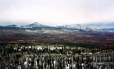 Distant Rockies Poster