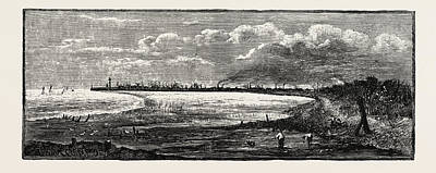 Distant View Of Great Grimsby, Uk. Grimsby Or Archaically Poster by English School