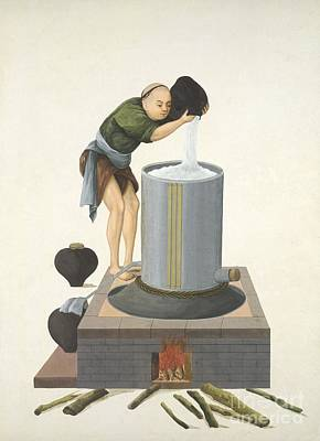 Distilling Spirits, 19th-century China Poster by British Library