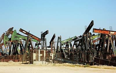 Disused Oil Pumps Poster by Bildagentur-online/tschanz-hofmann