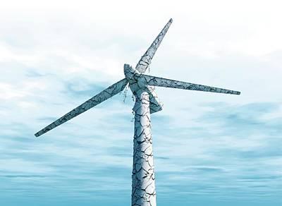 Disused Wind Turbine Poster