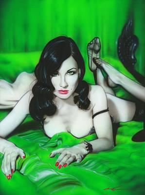 ' Dita Von Teese ' Poster by Christian Chapman Art