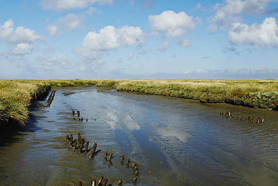 Ditch At The Foreshore Near Westerhever Poster