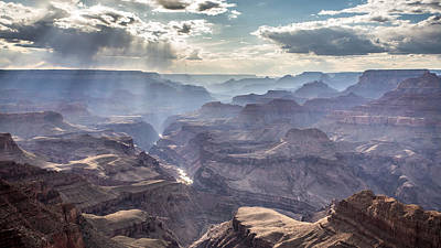 Divine Light In The Canyon Poster by Pierre Leclerc Photography