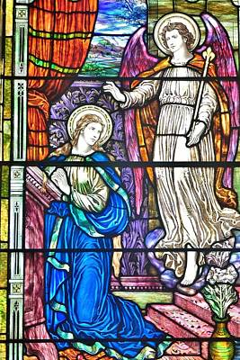 The Annunciation - Divine Scene At St. Peter's Episcopal Church - Lewes Delaware Poster