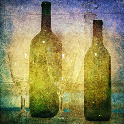 Divine Wine Poster by Judy Hall-Folde