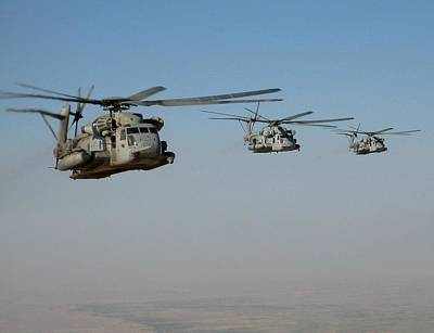 Division Of Ch-53 Flying In Afghanistan Poster