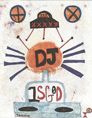 Dj Is God Pop Graffiti Poster