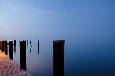 Dock Of The Morning Poster by Gary Wightman