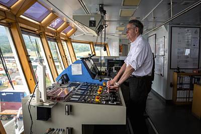 Docking A Z-drive Ship Poster