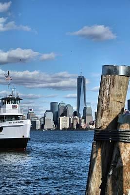 Docks In New York City Poster