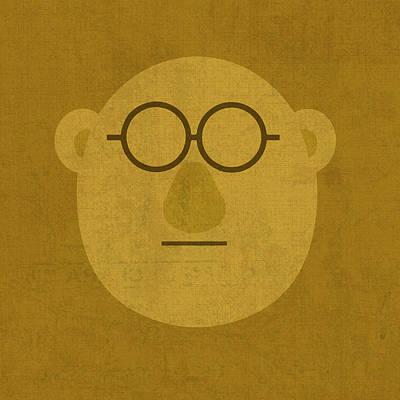 Doctor Bunson Honeydew Vintage Minimalistic Illustration On Worn Distressed Canvas Series No 004 Poster