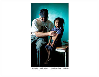 Poster featuring the photograph Doctor Examines Honduran Girl by Tina Manley