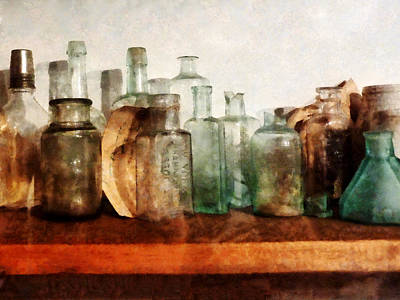 Doctor - Row Of Medicine Bottles Poster by Susan Savad