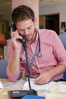Doctor Using A Phone Poster by Life In View