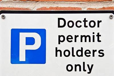 Doctors' Parking Poster