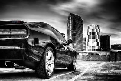 Dodge Challenger Tampa Skyline  Poster