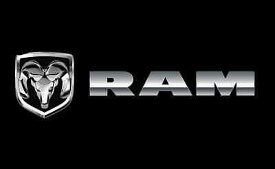 Dodge Ram Logo Poster