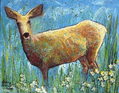 Poster featuring the mixed media Doe by Kenny Henson