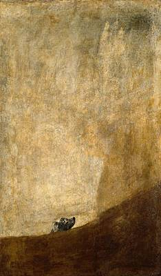 Dog Half-submerged Poster by Francisco Goya