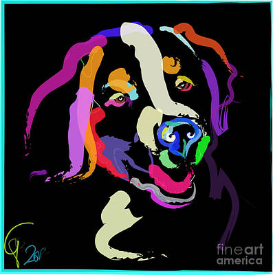 Dog Iggy Color Me Bright Poster by Go Van Kampen