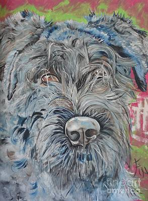 Dog Of Flanders The Bouvier Poster by PainterArtist FIN