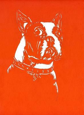 Dog Paper Cut Poster