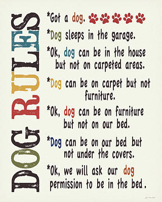 Dog Rules Poster