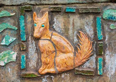 Dog Watching Poster by Omaste Witkowski