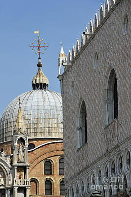 Doges Palace And San Marco Basilica Poster by Sami Sarkis