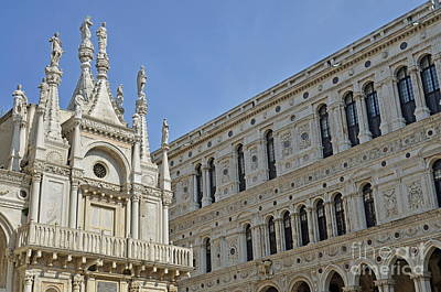 Doges Palace Courtyard Poster by Sami Sarkis
