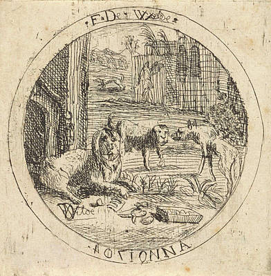 Dogs In A Doghouse, Franz De Wilde Poster by Artokoloro