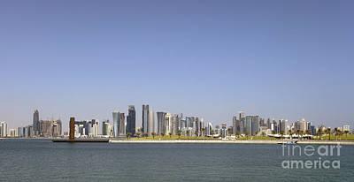 Doha Skyline Panorama Poster by Paul Cowan