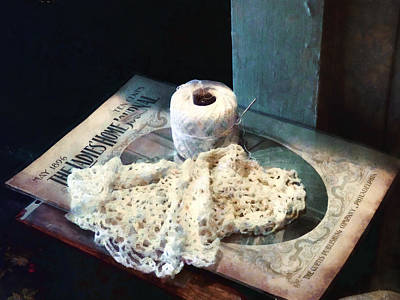 Doily And Crochet Thread Poster by Susan Savad