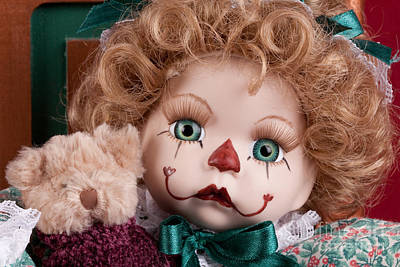 Doll Clown Poster by Cindy Singleton