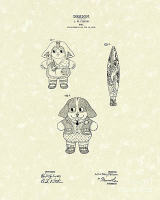 Doll Patent Art Poster