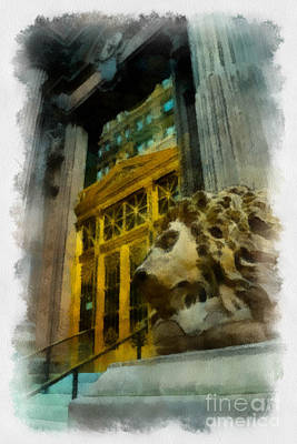 Dollar Bank Lion Pittsburgh Poster by Amy Cicconi