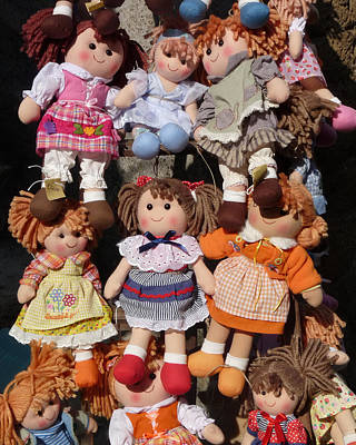 Poster featuring the photograph Dolls by Marcia Socolik