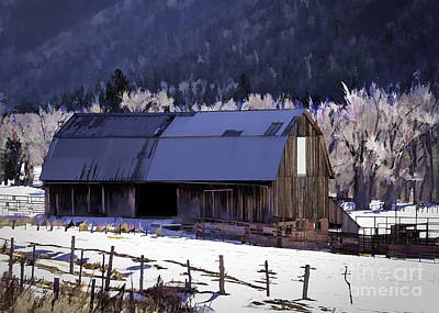 Dolores Colorado Barn Poster by Janice Rae Pariza
