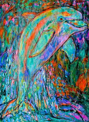 Dolphin Dance Poster by Kendall Kessler