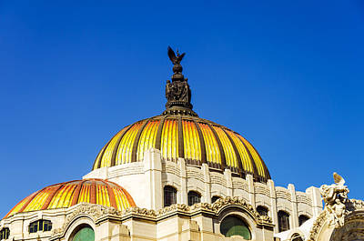 Dome Of Palacio De Las Bellas Artes Poster
