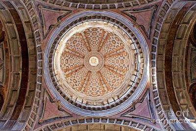 Dome Of The Baroque Basilica Of Mafra Poster by Jose Elias - Sofia Pereira