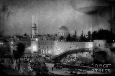 Dome Of The Rock In Israel - Abstract Version Poster by Doc Braham