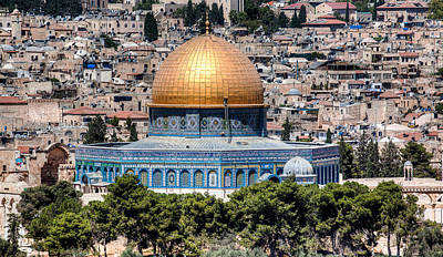 Poster featuring the photograph Dome Of The Rock by Uri Baruch