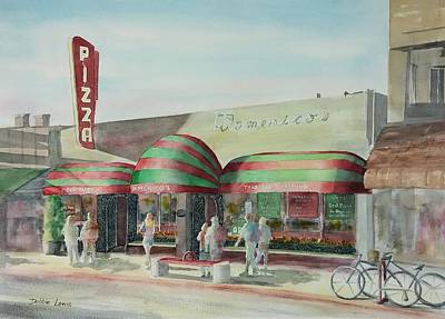 Domenicos In Long Beach Poster by Debbie Lewis